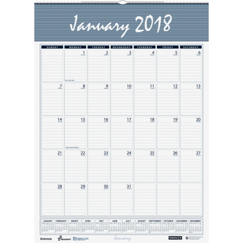 2018 monthly wall calendar jan dec 8 12 x 11 ability one